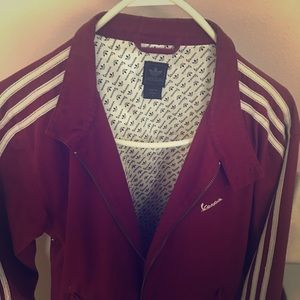 Adidas medium size Vespa lined jacket
